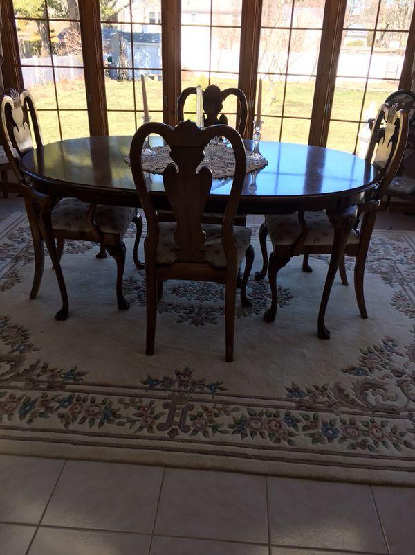 Mahogany Dining Room Set Glass China Cabinet Hutch