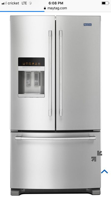 Maytag stainless steel refrigerator new. Full manufacturer warranty ...