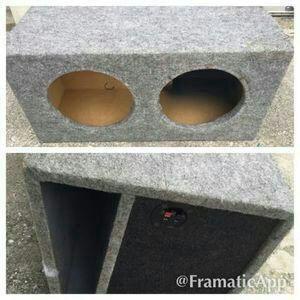 "Speaker box fits two 10"" speakers"