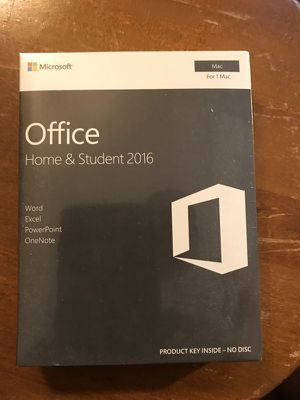 Office Home & Student 2016 for a Mac
