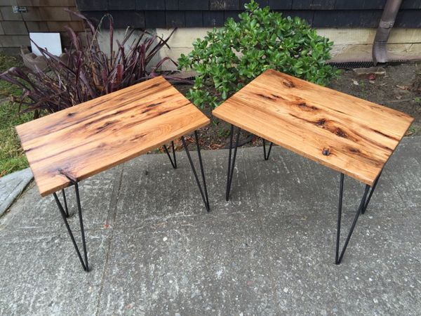 Hickory Slab Wood End Tables. Hickory Slab Wood End Tables   Furniture   in Oakland  CA   OfferUp