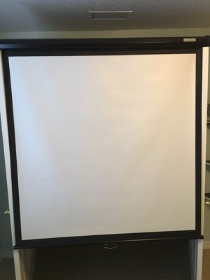 """Projector Screen 70"""" diagonal (purchased, never used)"""