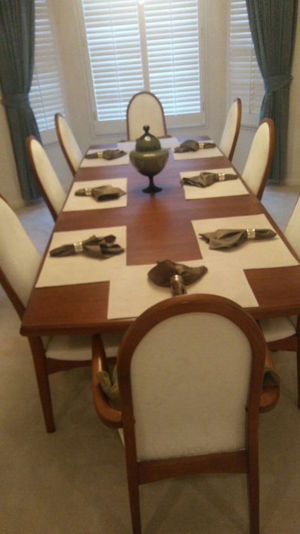 Teak Dining Room Table Chairs