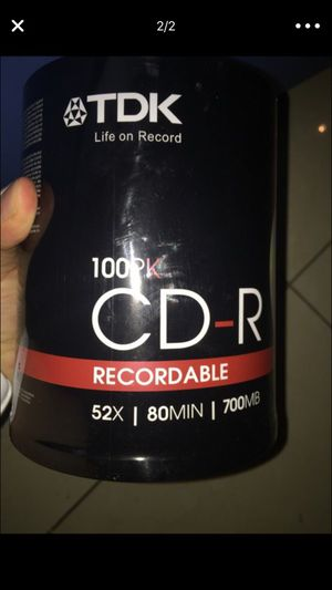 TDK CD-R blanks