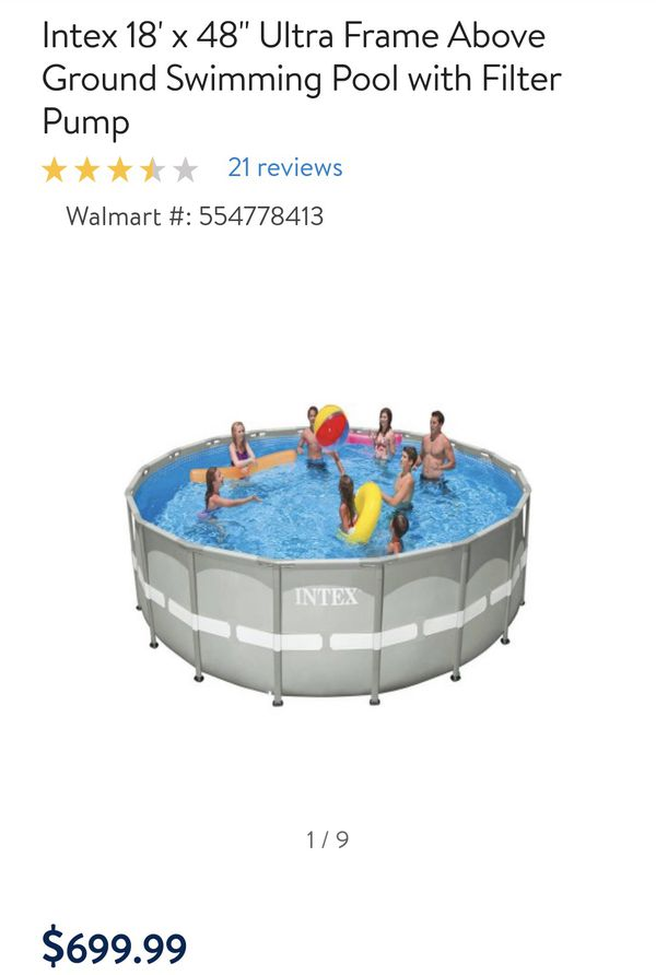 Exelent Intex 18 X 48 Ultra Frame Swimming Pool Image Collection ...