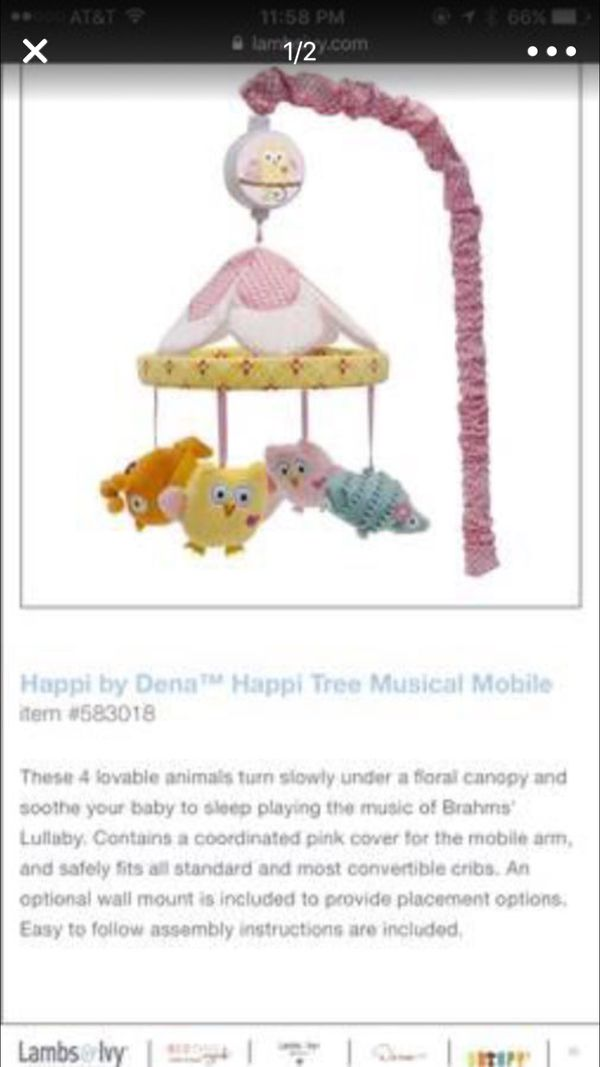 Still Available Musical Crib Mobile Baby Kids In San Jose Ca
