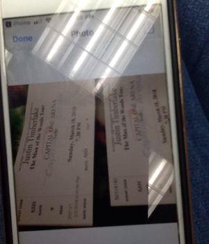 Justin Timberlake concert ticket