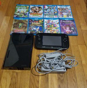 Nintendo Wii U Black 32 GB System w/9 Games Bundle Splatoon Super Mario Super Smash Bros Sonic Donkey Kong Zelda