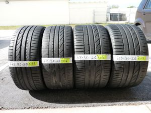 G167 275 40 20 and 315 35 20 Bridgestone Dueler H/P Sport BMW Run Flat 4 used tires 65% life