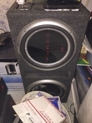 Two 12 inch punch speakers and box
