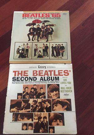 Two Beatle vinyl classic albums