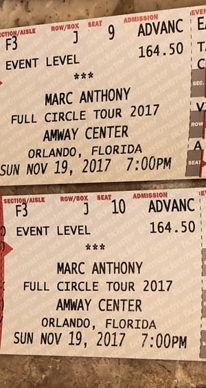 Marc Anthony Tickets!!