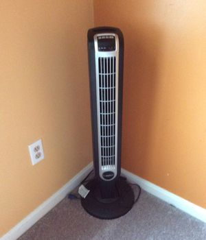 Lasko fan with remote control and timer. Almost brand new. Cash only