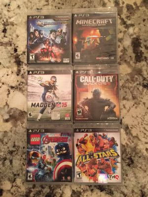 Six assorted PS3 games