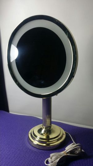 Lighted Vanity Mirror gold