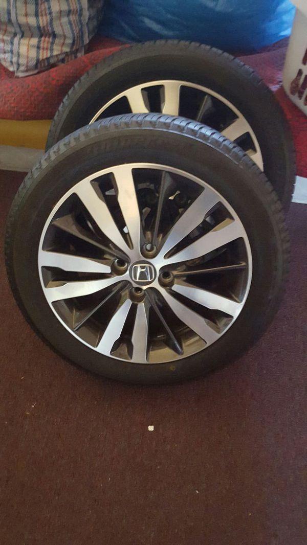 2016 honda fit ex wheels only 2 rims 2 tires the other. Black Bedroom Furniture Sets. Home Design Ideas