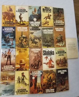 Louis L'Amour Western book collection