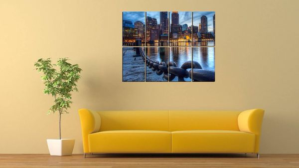 "8 piece bayview modern wall decor HD PHOTO PRINT 45.5""x34.5"" (Arts ..."