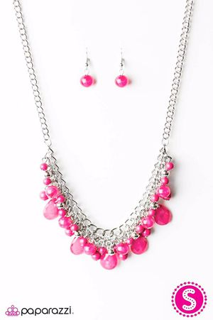 Flamenco Pink Necklace and Earring Set