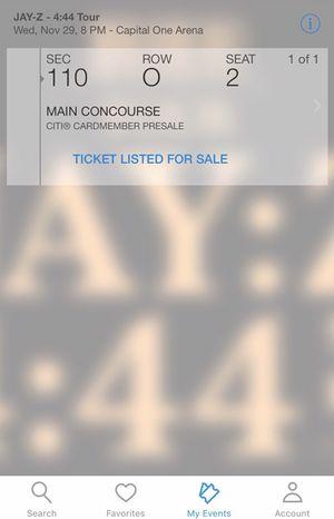 Jay-Z ticket 4 sale 350$ 11/22/2017 pre thanksgiving concert