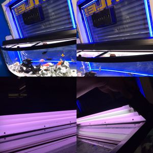 """2x 36"""" fluorescent lights with triple bulbs in each light for a 6 foot long fish tank $100"""