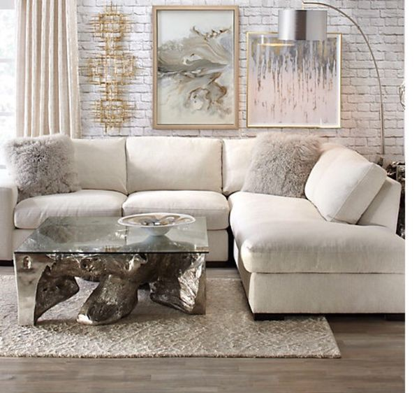 Zgallerie z gallerie Del Mar sectional right arm Chaise sofa couch ...