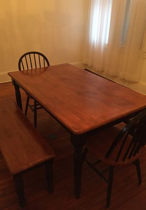 Dining Table with Two Bench Seats