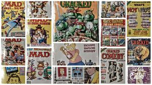 Vintage mad cracked and cartoons magazines