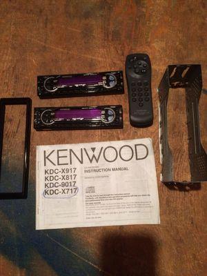 Kenwood car radio heads only