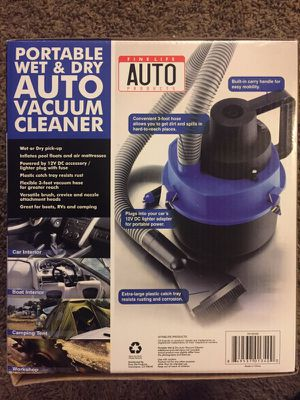 Portable wet and dry auto vacuum cleaner