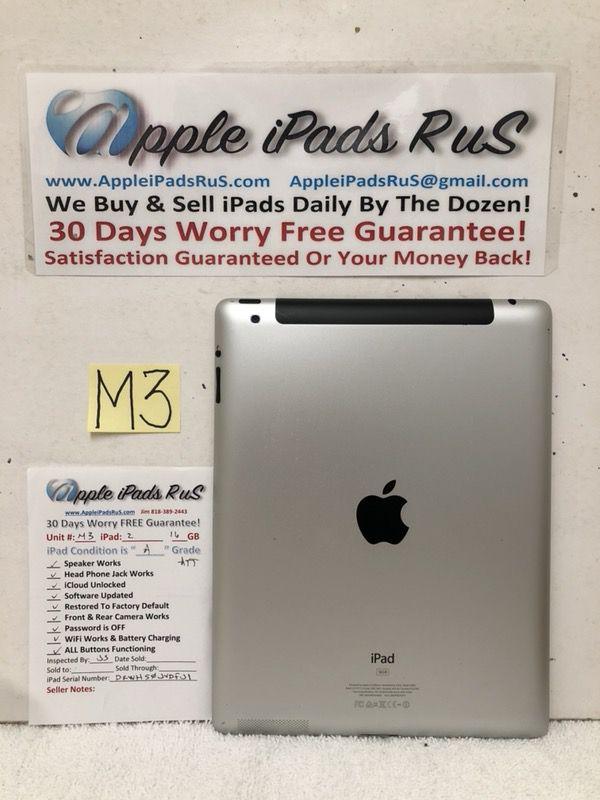 M3 - iPad 2 16GB Cell-ATT