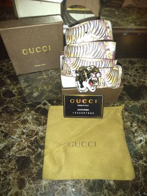 Gucci tiger print belt