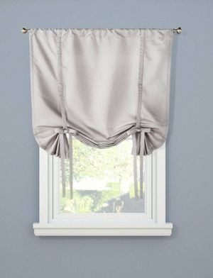 "2 Waverly ""tie-up"" curtain valances with curtain rod brackets"