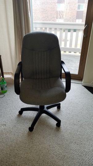 Swiveling office chair.