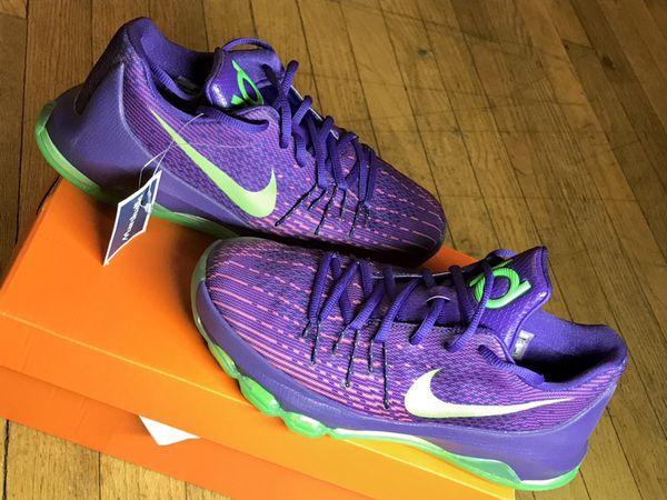 nike blue purple basketball shoe women sz 6.5 EUC