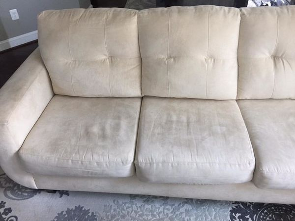 Ivory L-shape couch