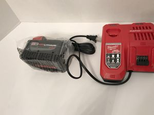 Milwaukee M18 18-Volt Lithium-Ion High Demand Battery Pack 9.0Ah & Rapid Charger