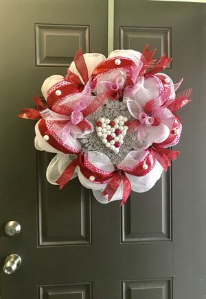 Valentines door wreath