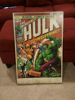 Vintage marvel comic book cover portraits