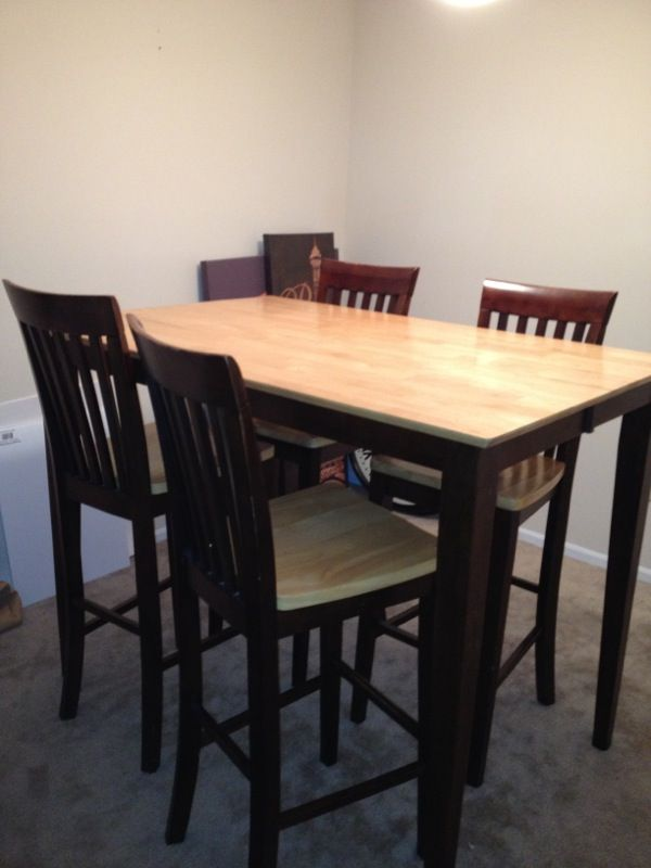 Bar high kitchen table furniture in kennesaw ga offerup for Bedroom furniture 30144