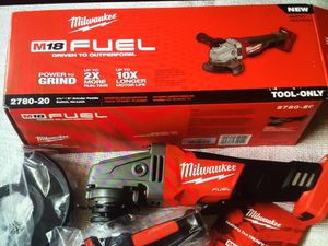 "Milwaukee New Grinder Paddle Switch 4 1/2"" / 5"" M18- Fuel New Brand Tool Only Herramienta Nueva"