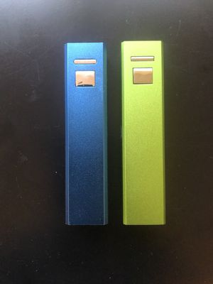 Two portables charger for cell phones