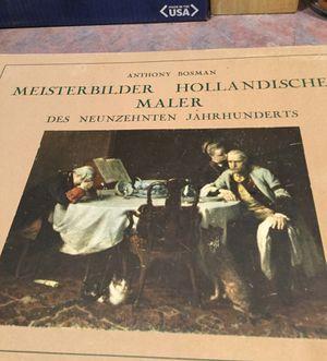 Old book of 17 Dutch artist prints paintings