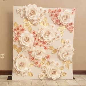 Wedding Photo Paper Flower Wall Backdrop Baby Bridal Shower Decor Decorations
