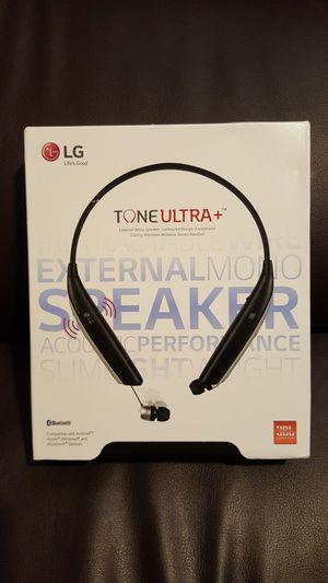 LG Tone Ultra+ plus JBL Bluetooth Wireless headphones headsets earphones audifonos Black EXTERNAL SPEAKER!