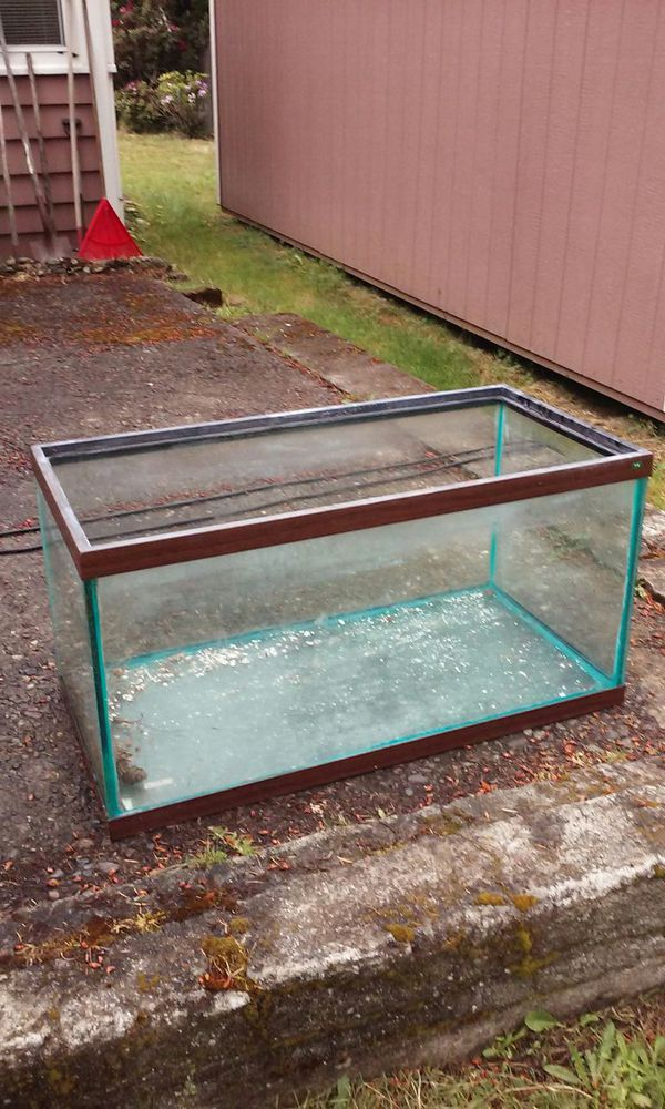 Fish tank no leaks very thick class 50 gal furniture in for How to fix a leaking fish tank