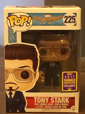 SDCC 2017 Exclusive Pop! Spider-Man Homecoming: Tony Stark holding helmet (rare exclusive)