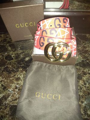 Gucci ghost red belt