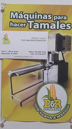 Tenemos la máquina para tamales Y tenemos el papel la bolsa para las tortillas papel para restaurantes papel para tortilla