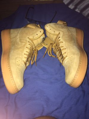 Wheat Air Force one size 10.5 / 9.5/10 condition